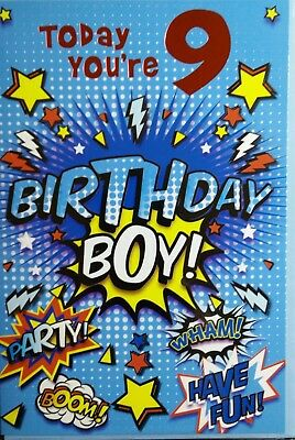 Birthday Cards For 9 Years Old Boy Good QualityDifferent Designs