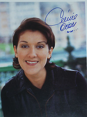 Vintage Celine Dion signed 8x10 photo