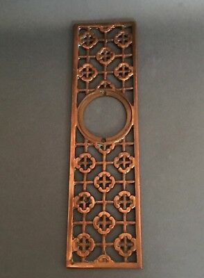 Old Copper Handmade Front Door Backplate, Mid-Century Modern, One-Of-A-Kind