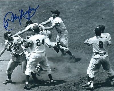 AUTOGRAPHED JOHNNY LOGAN 8X10 Milwaukee Braves Photo W/COA