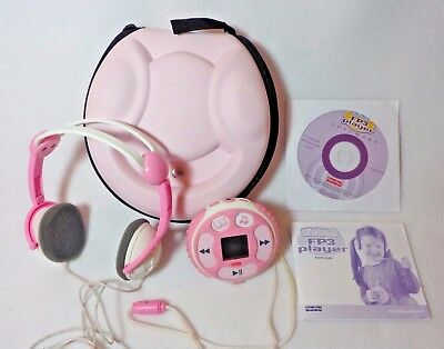 Fisher-Price Pink Kid-Tough FP3 Player Case, Headphones, Disc & Instructions