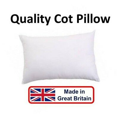 Quality Cot Pillow Hollowfibre Non Allergenic Nursery Baby Toddler Junior - UK