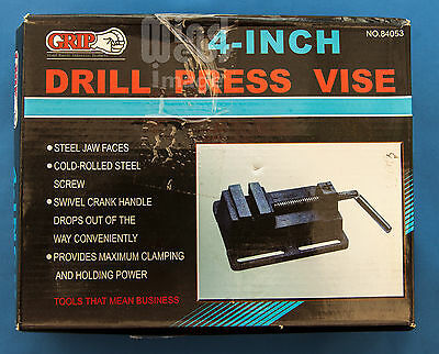 "Drill Press Vice with Steel Jaw Faces 100mm (4"")"