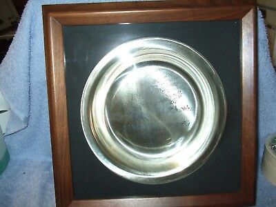 """James Wyeth """"Riding to the Hunt"""" Sterling Silver Collector Plate 1974"""