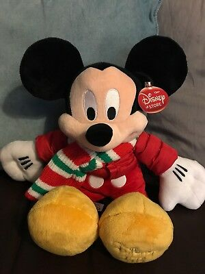 Disney Store Winter Mickey Plush 2010 Tagged.