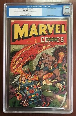 MARVEL MYSTERY COMICS #62 CGC Universal 3.5 Timely Comics Nicholas Cage Collecti
