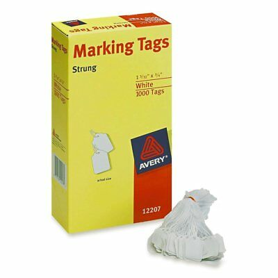 1000 Pk Label Tag Tagging Jewelry Price Marking Tags Strung White With String