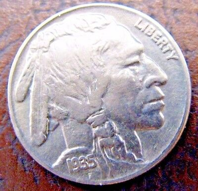 1935-p buffalo nickel; 3/4 horn