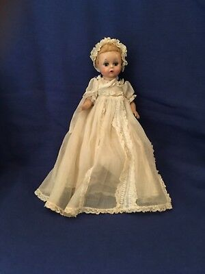Madame Alexander Little Genius 7-Inch in Tagged Christening Dress Vintage 1950's