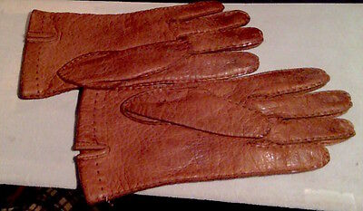 Vintage Bergdorf Goodman Leather Gloves-SILK lining-Made in England-SEND OFFERS