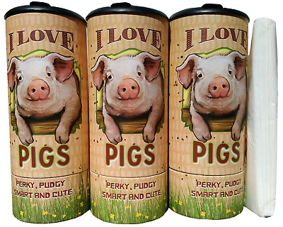 I Love Pig(85024) Refillable Tissue Tube with 1 Refill package