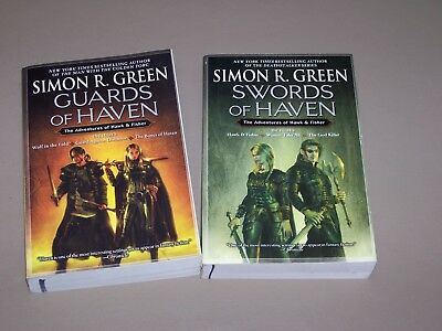 Lot of 2 Simon Green, Hawk and Fisher series, total of 6 novels in 2 volumes