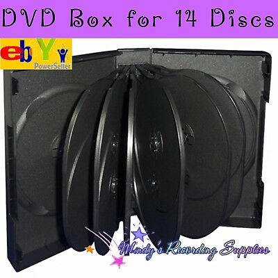 Premium DVD Box holds 14 discs Movie Case Great Quality NEW quantity one 44 mm