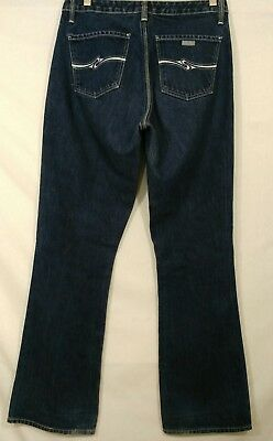 VTG Silver Clothing Company Jeans Womens 29x 33 High Waist White Stitch Flare