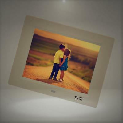 8 Inch 1024x600 Hi-Res LED Digital Photo Frame & HD Video Playback with 8GB SD C