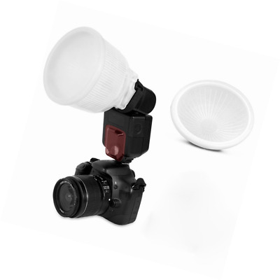 TopOne Universal Cloud lambency flash diffuser + White dome cover and fits all f