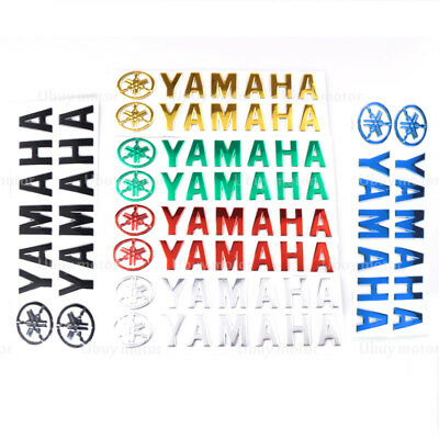 3D Fuel Gas Tank Fairing Pad Motorcycle Emblem Decal Stickers For Yamaha Red