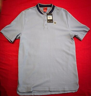 NEW Nike Court Men's Tennis Polo SIZE M, LIGHT BLUE