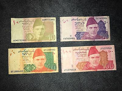 10+20+50+100 Rupees PAKISTAN 🇵🇰 🇵🇰2014 & 2015 Banknotes, Foreign Currency