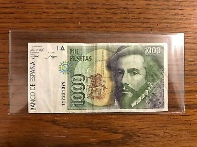 SPAIN 🇪🇸 1000 Pesetas Banknote World Money 1992 - UNC Foreign Currency