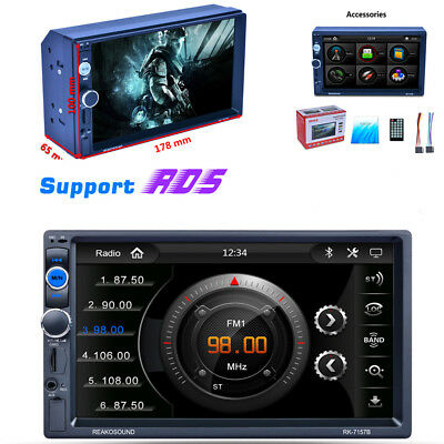 "7"" 2Din TFT 1080P Auto MP5 MP3 Player RDS Bluetooth Audio Radio Stereo AM/FM ISO"