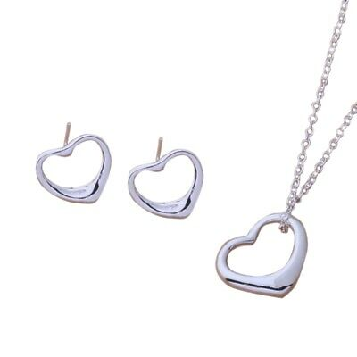 Women Fashion Solid Silver Jewelry Bangle/Necklace/ Bracelet /Earring/Ring Set