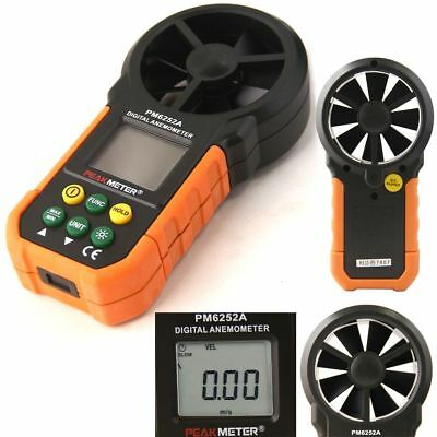 MS6252A LCD Digital Anemometer Wind Speed Meter Air Flow Volume Hand-held Gague