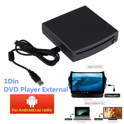 Profession 1-Din HD Car External Radio DVD Player USB Port For Android 4.4&Above