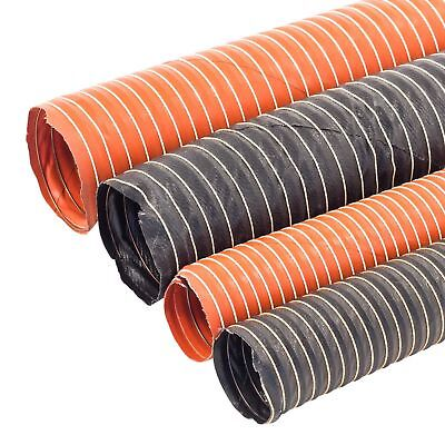 25mm~ 102mm Flexible Silicone Ducting Hot/Warm Air Silicon Heater Pipe 1m NEW