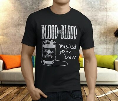 new BLOOD FOR BLOOD Rock Alternative band Mens t shirt S to 4XLT