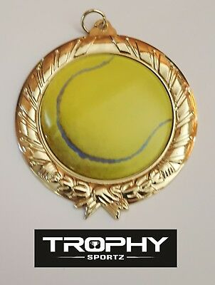 1 x TENNIS BUDGET,70mm  MEDAL (trophy) Free Engraving ,CAPPED POSTAGE