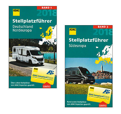 adac camp card stellplatzf frer deutschlan und europa 2018. Black Bedroom Furniture Sets. Home Design Ideas