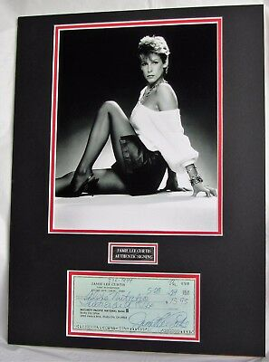Jamie Lee Curtis signed matted cheque display authentic guaranteed  Lifetime COA