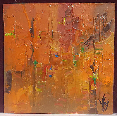 Original Ukrainian Oil Contemporary Modern Abstract Painting Landscape Signed