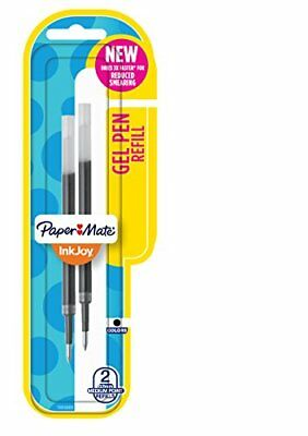 Paper Mate InkJoy Gel Pen Refills Medium Point Black 2 Count