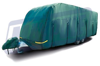 Maypole NEW Updated 5.0m-5.6m Green Breathable 4 PLY Waterproof Caravan Cover