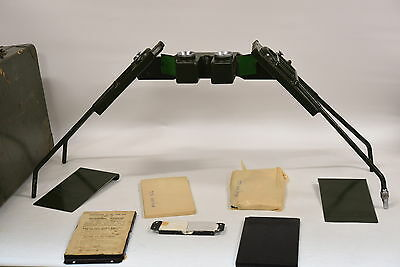 Vintage Mirror Map Aerial Stereoscope Viewer - With Original Case and Mirrors