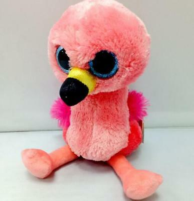Ty Beanie Boos Big Eyes Pink Flamingo Bird Gilda Soft Dolls Plush Toys  6''/17cm