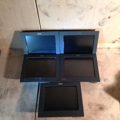 "Bulk lot of 5 x IBM 4820 12"" Touch Screen POS displays Monitor"