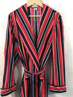 Maus & Hoffman Vintage 60s Italy Flag Dandy Colorblock Cotton Lounge Robe Large