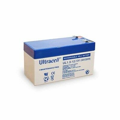Ultracell UL1.3-12: Batterie au plomb étanche 12V 1.3AH :97x43x52mm
