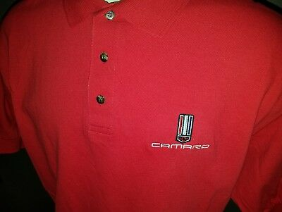 Lot of 2 Chevrolet Camaro Polo Shirt Embroidered Chevy Men's XL