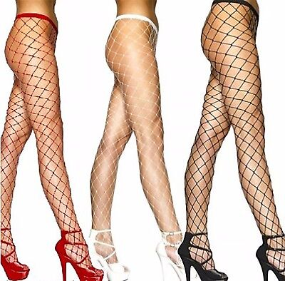 Women's Ladies  Whale Fishnet Tights Large Net Colours White ,Black, Red