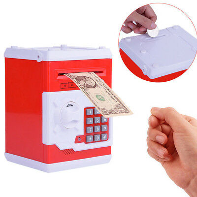 Electronic Coin Note Money Counting Atm Box Saving Safe Digital Bank Kids Gifts