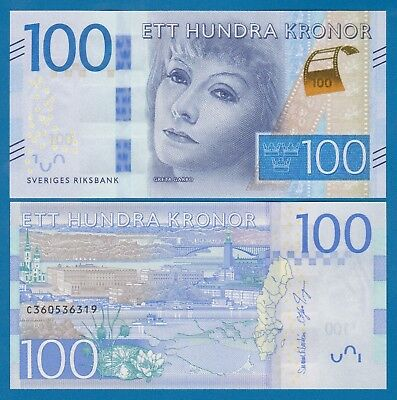 Sweden 100 Kronor P 71 (2016) New UNC Low Shipping! Combine FREE!
