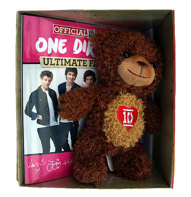 One Direction Book and Toy Teddy Bear Box Set Fun Fan Book Teen Gift New