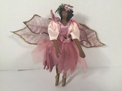 Avon Enchanted Fairy Ornament African American Decoration Collectible
