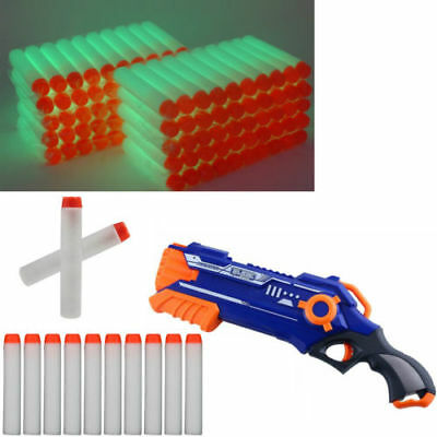 100Pcs Glow 7.3Cm Gun Soft Refill Bullets Darts Blasters For Nerf N-Strike Toy