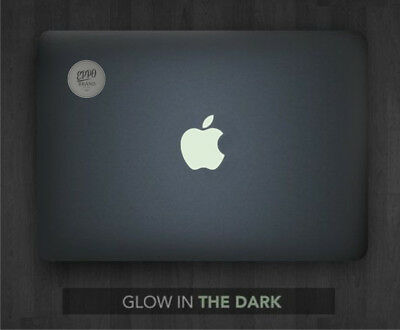 "3x Glow In The Dark Apple Logo Sticker for 12"" Macbook and 13"" 15"" Macbooks Pro"