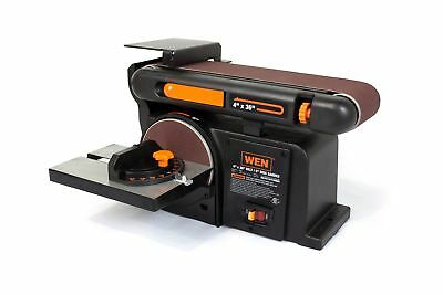 WEN 6502 4 x 36-Inch Belt and 6-Inch Disc Sander with Cast Iron Base New